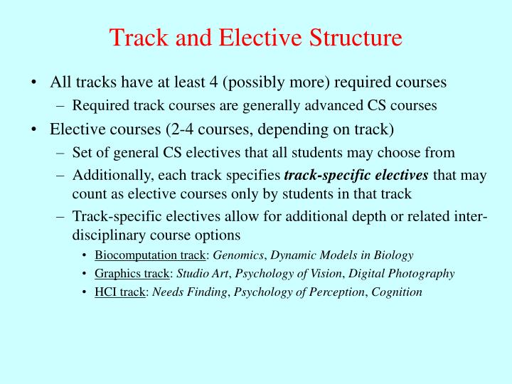 Track and Elective Structure