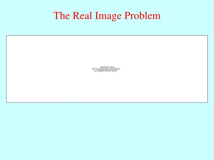 The Real Image Problem