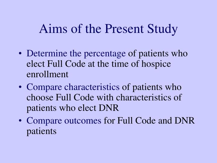 Aims of the Present Study