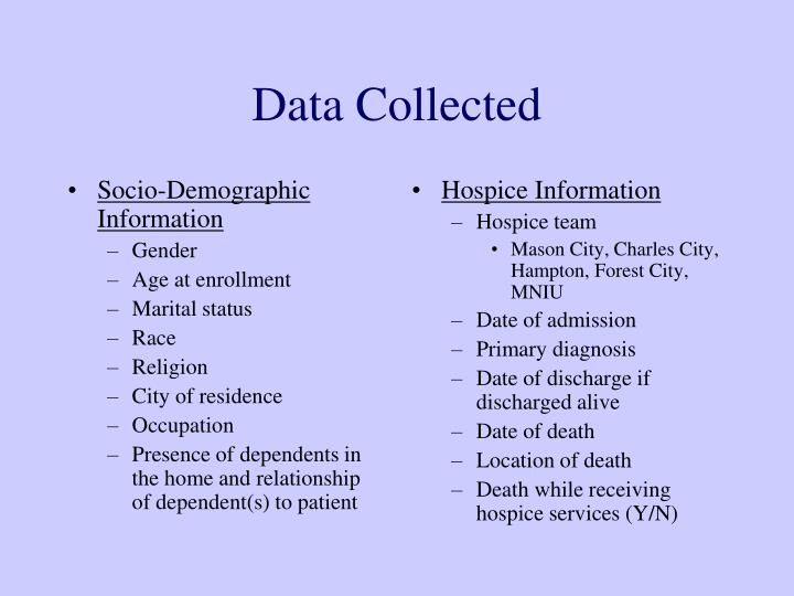 Socio-Demographic Information