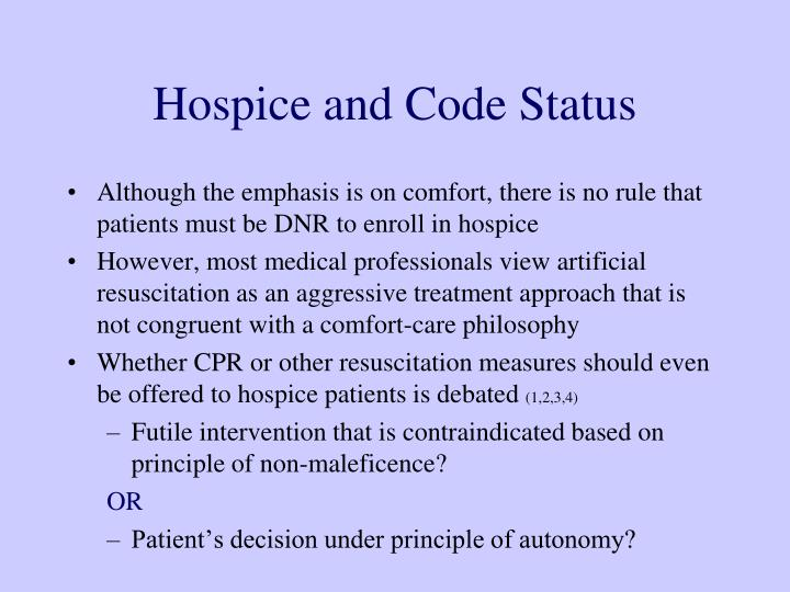 Hospice and Code Status