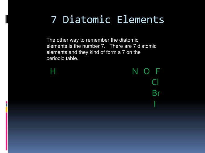 7 Diatomic Elements