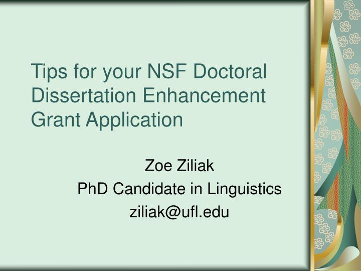 Doctoral Dissertation Funding