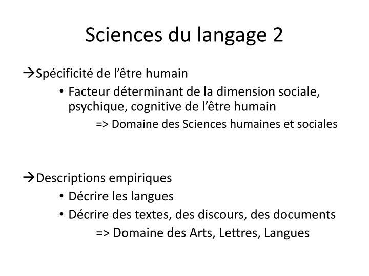 Sciences du langage 2