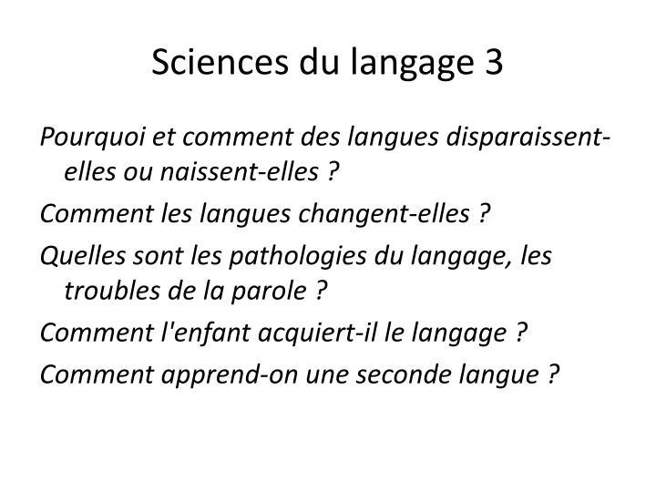 Sciences du langage 3
