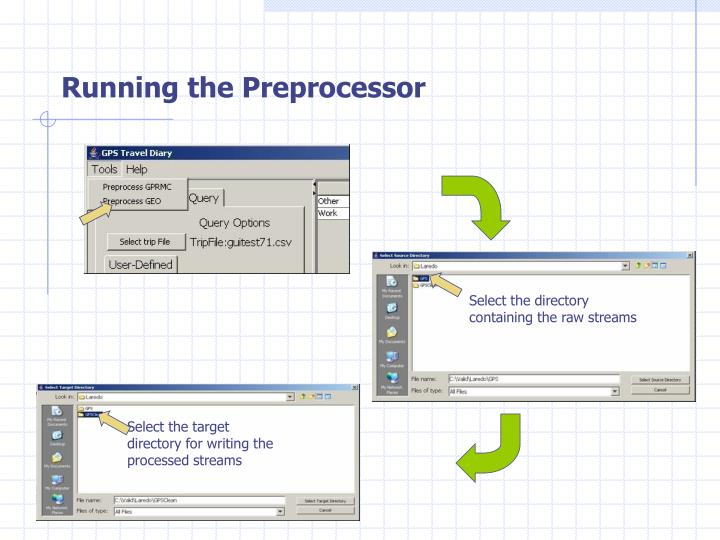 Running the Preprocessor
