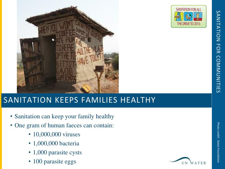 Sanitation for communities