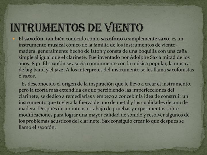INTRUMENTOS DE VIENTO