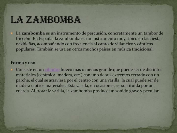 La zambomba