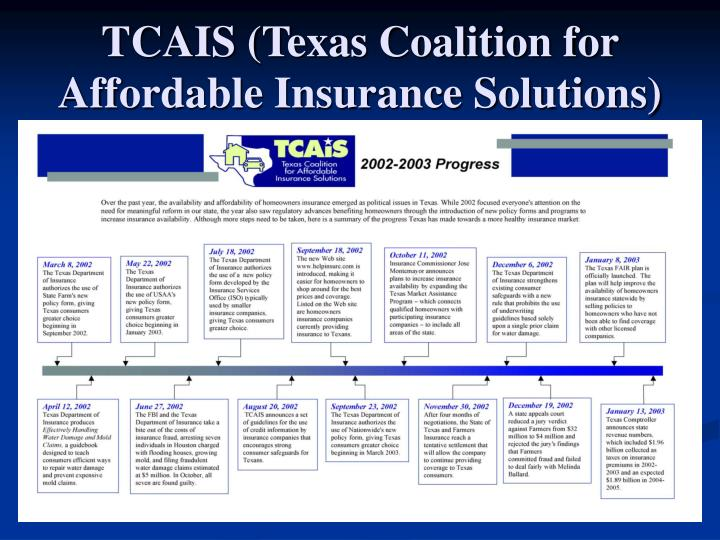 TCAIS (Texas Coalition for Affordable Insurance Solutions)