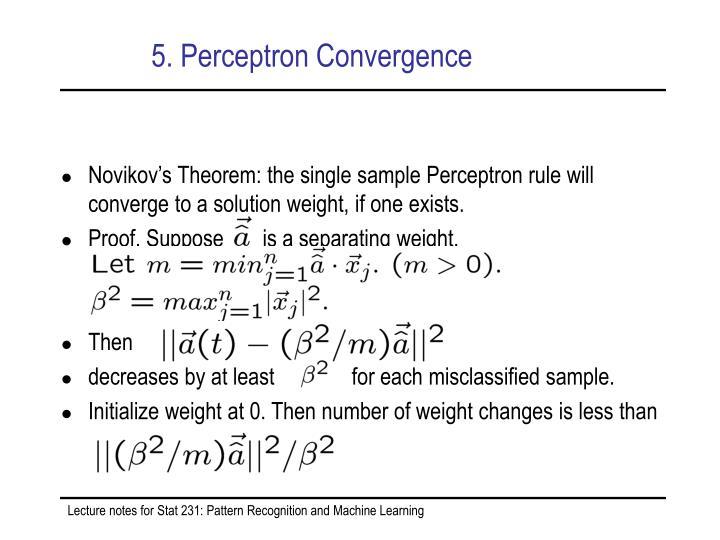 5. Perceptron Convergence