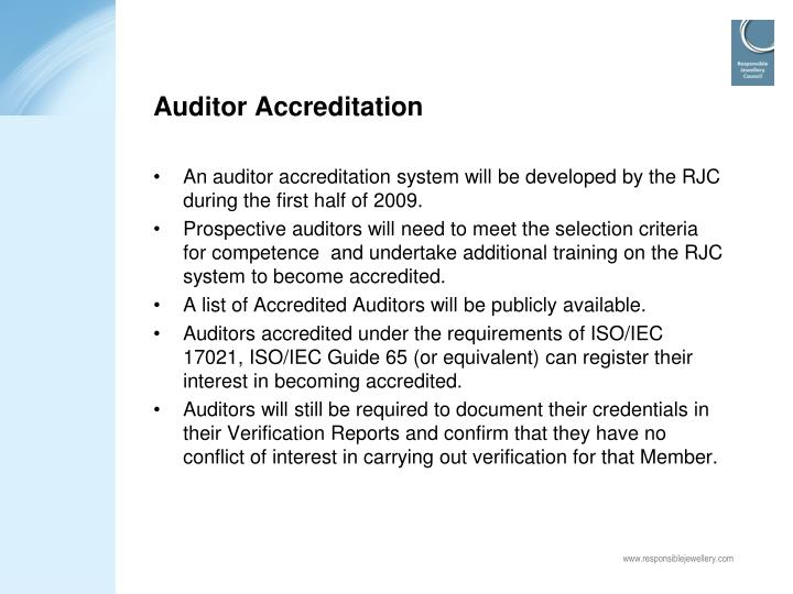 Auditor Accreditation