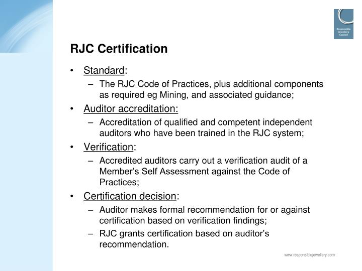 RJC Certification
