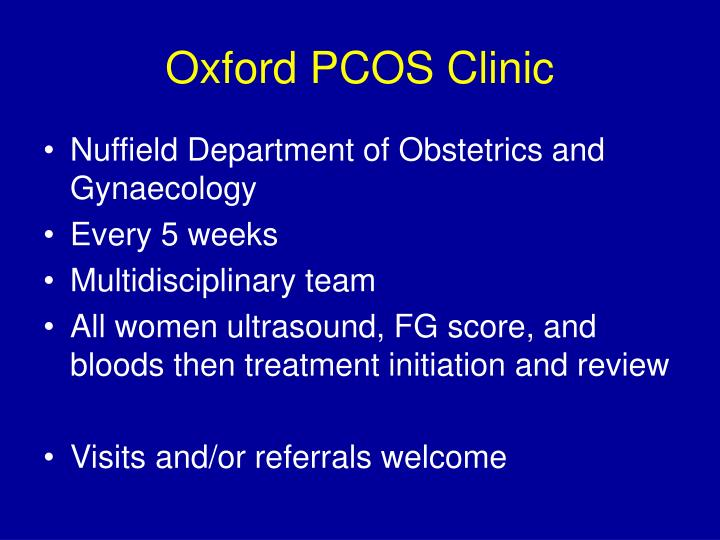 Oxford PCOS Clinic