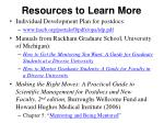 resources to learn more