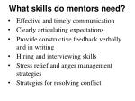 what skills do mentors need