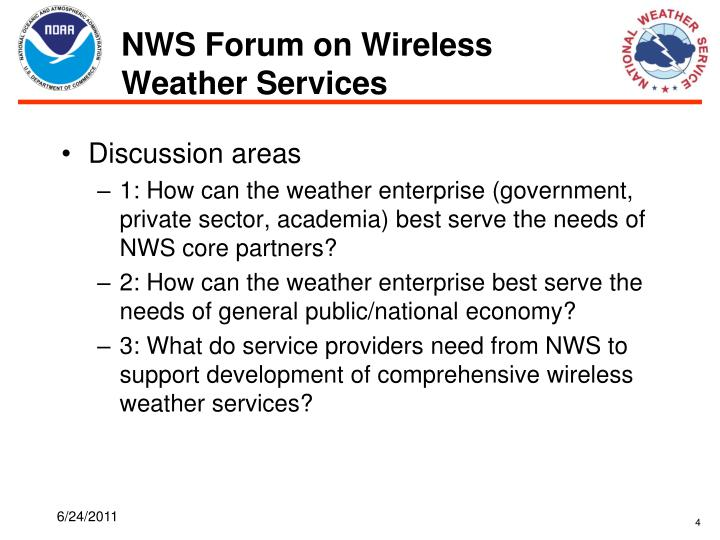 NWS Forum on Wireless Weather Services