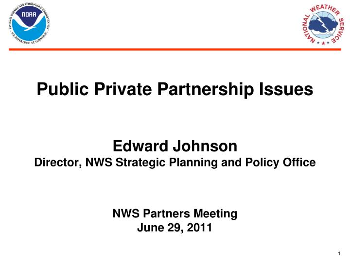 Public Private Partnership Issues