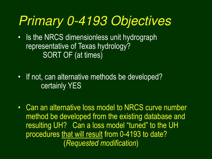 Primary 0-4193 Objectives