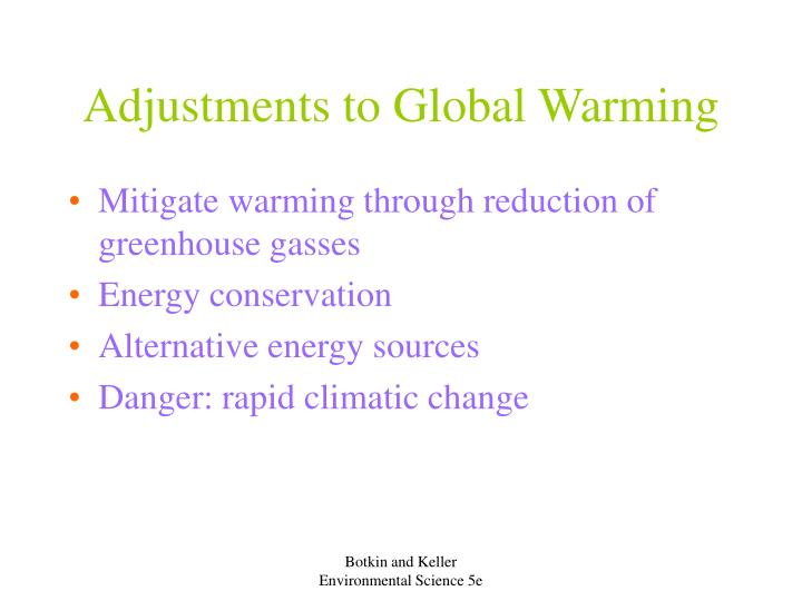 Adjustments to Global Warming
