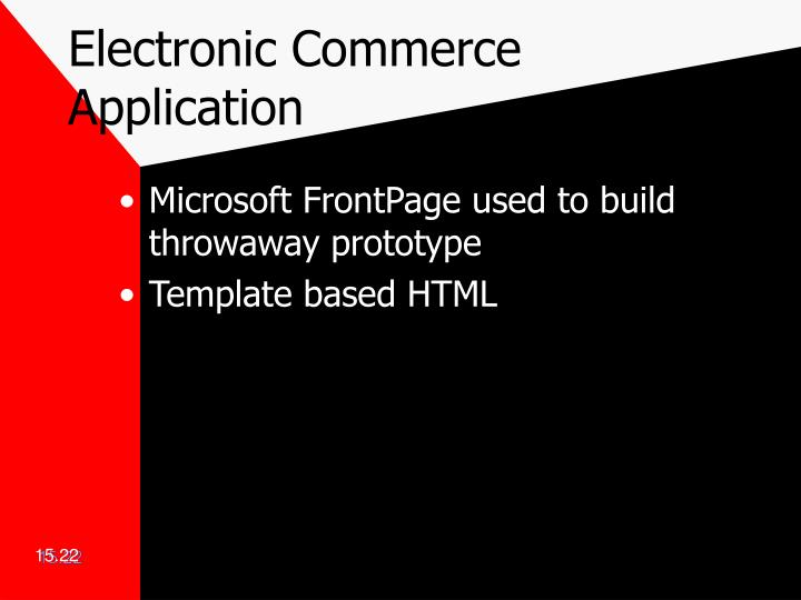 Electronic Commerce Application