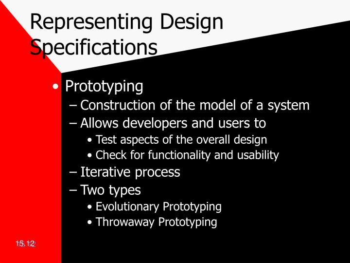 Representing Design Specifications