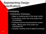 representing design specifications6