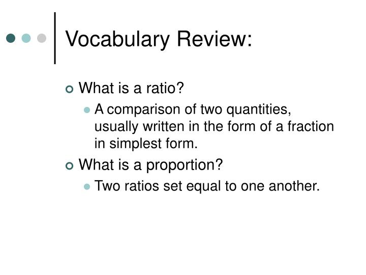 Vocabulary Review: