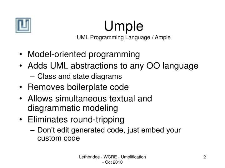 Umple uml programming language ample