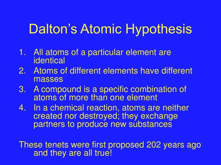 Dalton's Atomic Hypothesis