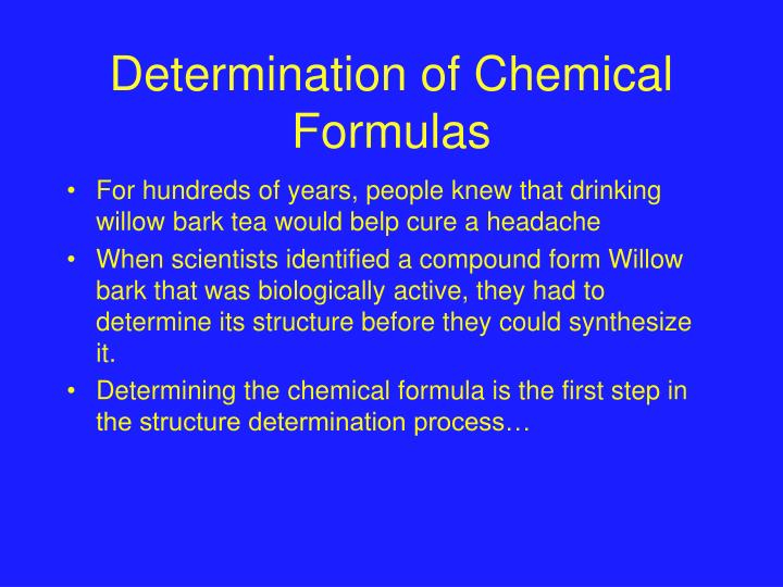 Determination of Chemical Formulas
