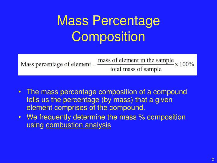 Mass Percentage Composition
