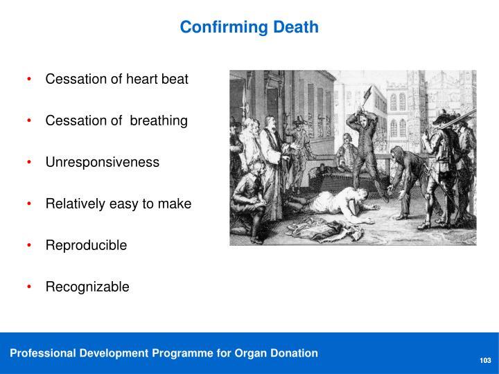 Confirming Death