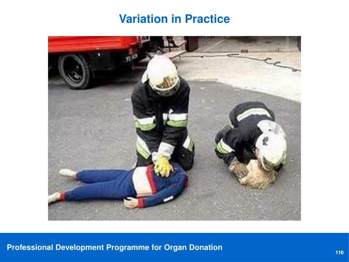 Variation in Practice