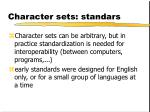 character sets standars