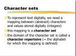 character sets1