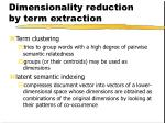dimensionality reduction by term extraction1
