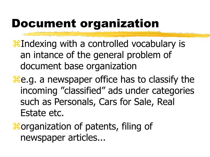 Document organization