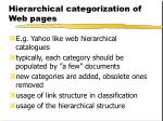 hierarchical categorization of web pages