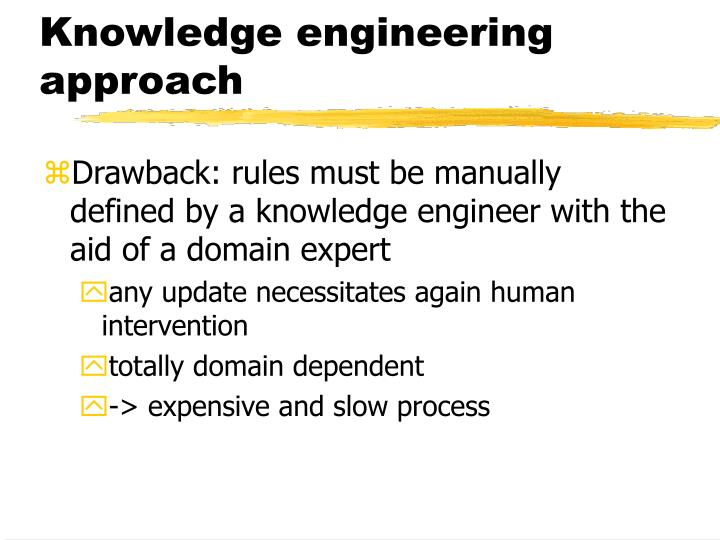 Knowledge engineering approach