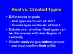 real vs created types