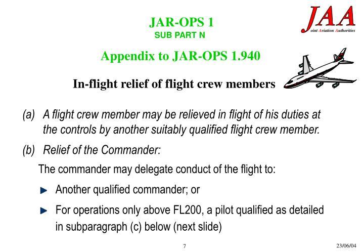 Appendix to JAR-OPS 1.940