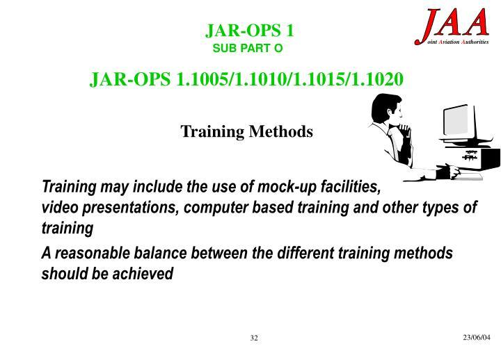 JAR-OPS 1.1005/1.1010/1.1015/1.1020