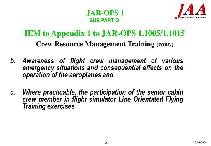 JAR-OPS 1.1005/1.1015