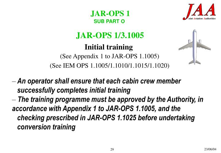 JAR-OPS 1/3.1005