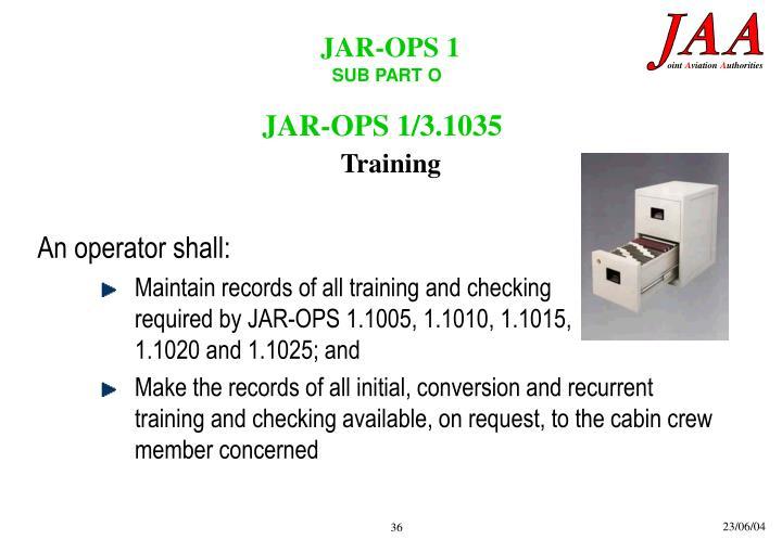 JAR-OPS 1/3.1035