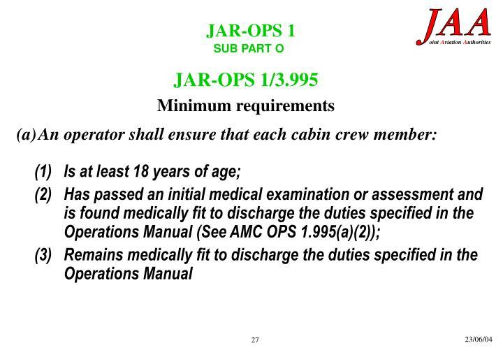 JAR-OPS 1/3.995
