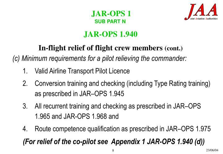 JAR-OPS 1.940
