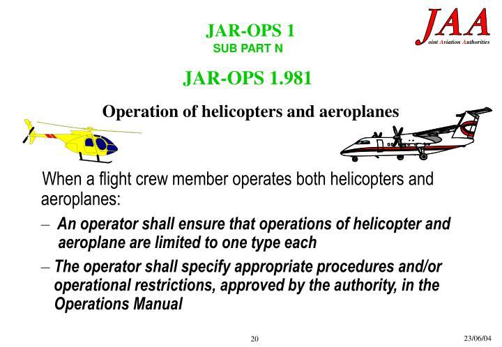 JAR-OPS 1.981