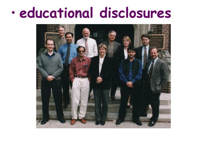 educational disclosures